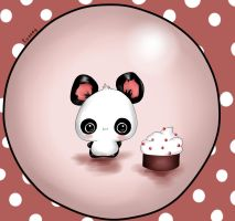 Cute panda by Runney