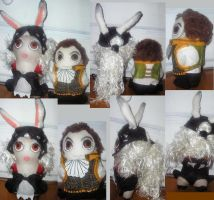 Fran and Balthier plushies by Lily-pily
