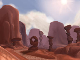 The Thousand Needles by TheSpectral-Wolf
