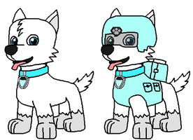 Frost the Snow Pup by Wolf-Prince-Leon