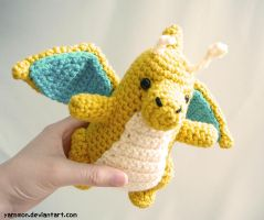 Dragonite Amigurumi Plush by yarnmon