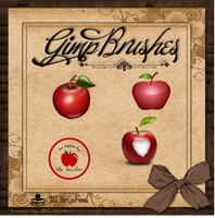 Gimp Brushes | Apple Brushes by TheAngeldove