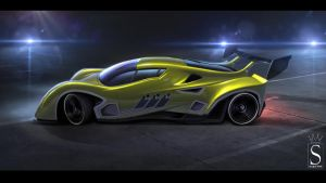 Race car concept by SaphireDesign