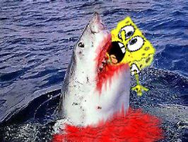 Jaws vs Spongebob Squarepants by Rennon-the-Shaved