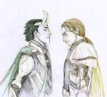 Loki and Theoric by Sanzo-Sinclaire