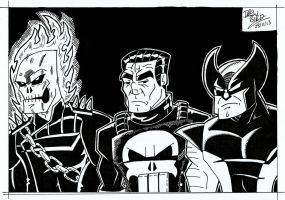 Danny, Frank and Logan - Hearts of Darkness by Drew0b1