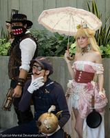 More Steampunk Peach, Waluigi and BulletBill by Typical-Mental