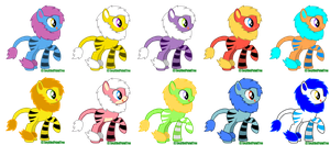 Liger Pony Point Adopts (closed) by EnvyXtheXPalmXTree