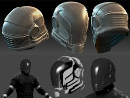 LMS Paladin Helmet Progress1 by hsholderiii