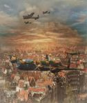 Lancasters Over Amsterdam by Shawna Mac by ShawnaMac