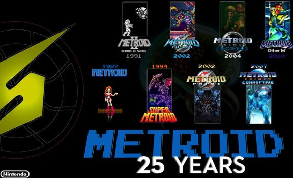 25 Years of Metroid (1987-2012) by abandonX