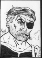 Nick Fury sketch card by The-Standard