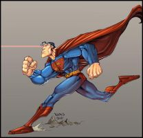 Run Superman, Run.... by Red-J