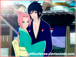 SasuSaku Mr. and Mrs. Uchiha (version 2) by byBlackRose