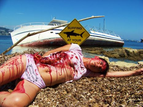 SHARK ATTACK in Cannes by bloody06