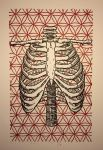 Rib Cage Flower of Life Woodcut by Fischer-Art