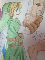 Link and Epona by Linkmastersword456