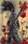 Eternal Guitarist playing for a ROSE print by FWACATA