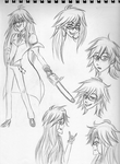Grell Sketches by mashaheart