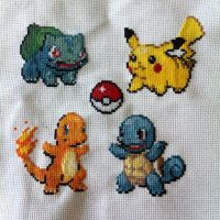 Pokemon First Gen Starters by sfxbecks