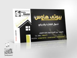 beauty house card by elhosary