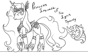 Princess Incendia of the Ignis Dynasty by TheRebelPhoenix