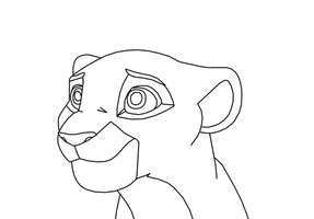 Lioness Lineart by Lyra-Elante