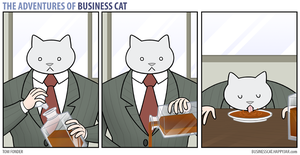 The Adventures of Business Cat - Whiskey by tomfonder