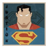 Superman Art Deco Poster by MaxDaMonkey