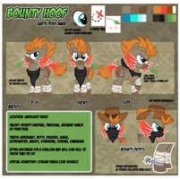 Reference Sheet: Bounty Hoof by Nazegoreng