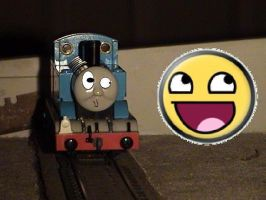 Thomas and Awesomeface??? by missoliverandblossom