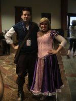 Flynn and Rapunzel Cosplay by Zombie-Necromancer23