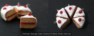 Victorian Sponge Cake Charms by chat-noir