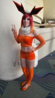 Megacon Flareon by kingofthedededes73