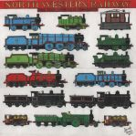 North Western Railway Engines by TheCaptainofDerp