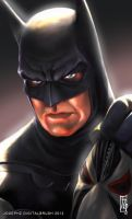 Batman Headshot by earache-J