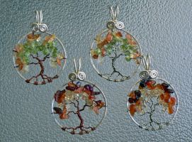 Autumn Leaves - Moonlight Pendants by magpie-poet