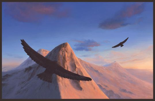 Flying Over Golden Peaks by Andr-Sar