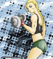 Cammy on Workout by stryfers
