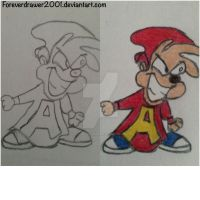 AATC: Alvin Seville, The Mindless Zombie by foreverdrawer2001