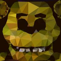Golden Freddy Low Poly by EmeraldFox123