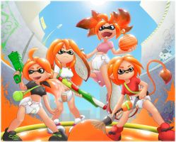 Splatoon Team by The-Padded-Room
