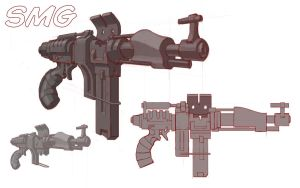 Another Sub Machine Gun Concept by Rancemeister