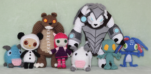 League of Legends Amigurumi Dolls by Npantz22
