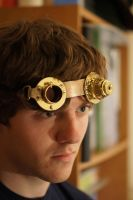 FOR SALE Steampunk Goggles by flamingcog