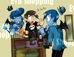 Evil shopping by dreaminglobster