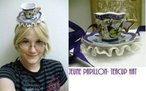 Jeune Papillon TeaCup Hat by pervyyaoifancier