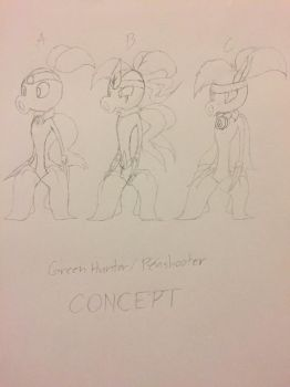 Green Hunter/Peashooter Concepts by JackJack2017