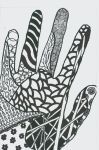 Zen - tangle hand by EAT-MY-PAINTINGS