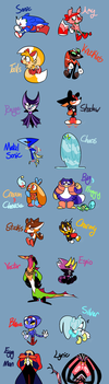 Sonic and Friends Redesigns Redesigns by NoneToon